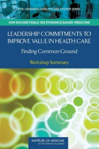 Leadership Commitments to Improve Value