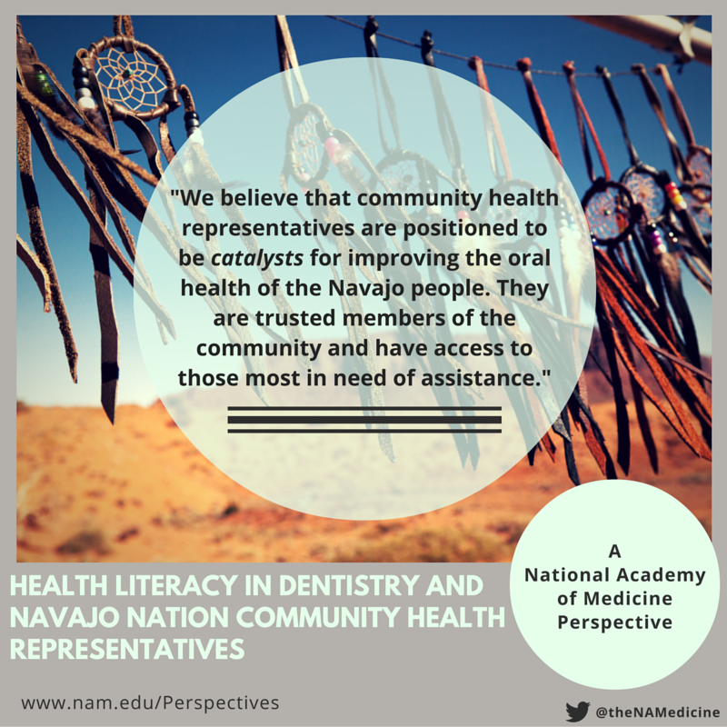 Health Literacy in Dentistry and Navajo Nation CHRs