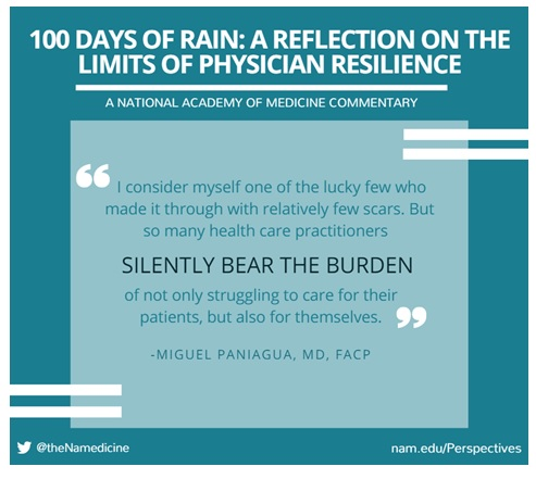 100 Days of Rain: A Reflection on the Limits of Physician Resilience