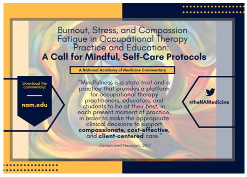 Burnout, Stress, and Compassion Fatigue in Occupational Therapy Practice and Education: A Call for Mindful, Self-Care Protocols