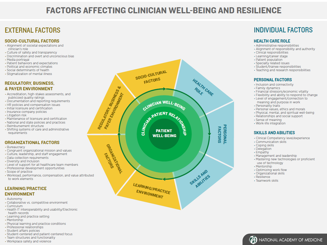 A Journey to Construct an All-Encompassing Conceptual Model of Factors Affecting Clinician Well-Being and Resilience