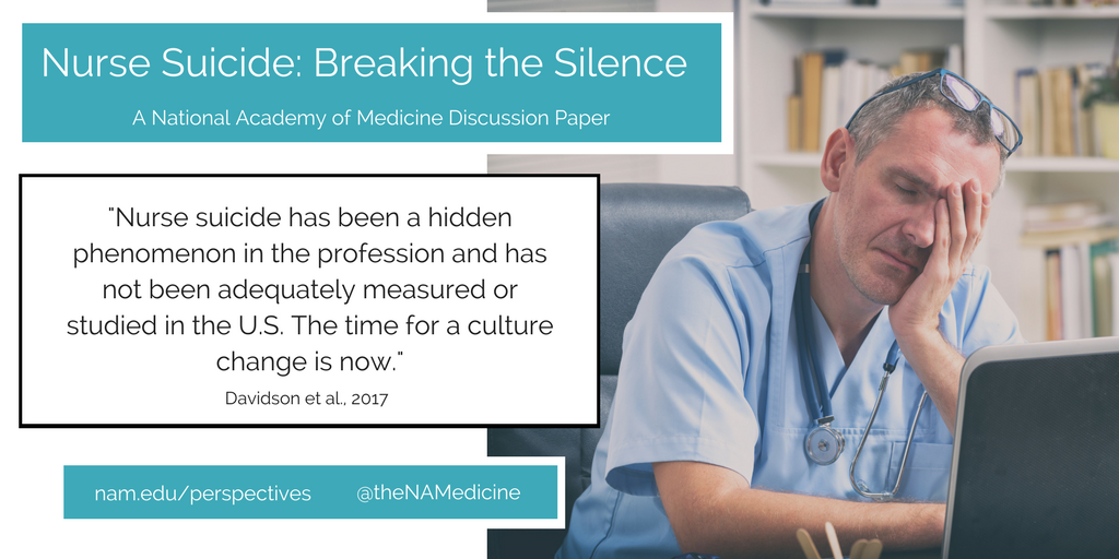 Nurse Suicide Breaking The Silence National Academy Of Medicine