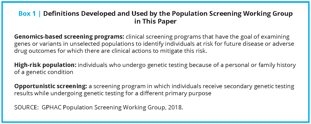 Why Theres Disagreement Over Screening >> A Proposed Approach For Implementing Genomics Based Screening