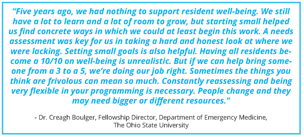 Clinician Well-Being at The Ohio State University: A Case