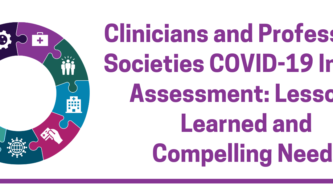 Clinicians and Professional Societies COVID-19 Impact Assessment: Lessons Learned and Compelling Needs
